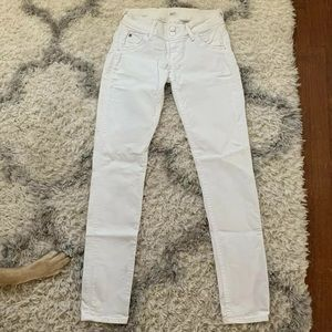 ***Authentic White Hudson Jeans Size 24***